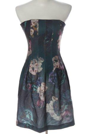 H&M schulterfreies Kleid Allover-Druck Elegant