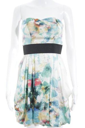 H&M schulterfreies Kleid abstraktes Muster Elegant