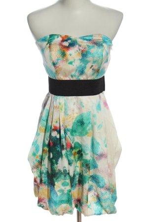 H&M schulterfreies Kleid mehrfarbig Casual-Look