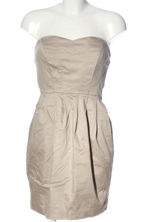 H&M Robe épaules nues blanc cassé style décontracté