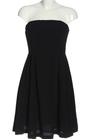 H&M schulterfreies Kleid schwarz Elegant