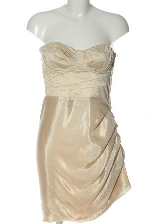 H&M schulterfreies Kleid goldfarben Elegant