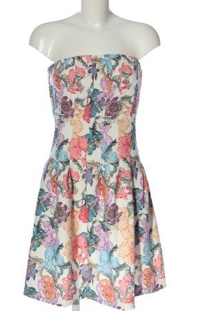 H&M schulterfreies Kleid Allover-Druck Casual-Look