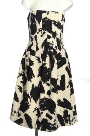 H&M Off-The-Shoulder Dress natural white-black abstract pattern elegant