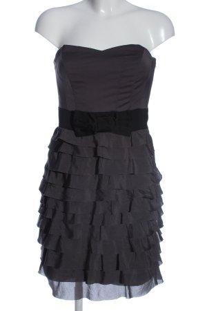 H&M schulterfreies Kleid lila-schwarz Elegant