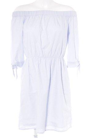 H&M schulterfreies Kleid himmelblau Casual-Look