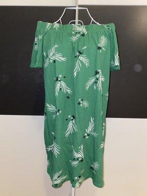 H&M schulterfreies Kleid mit Blumenmuster in XS