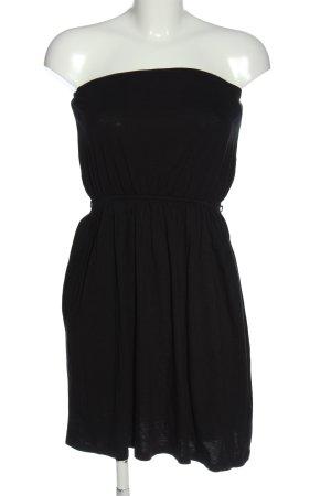 H&M schulterfreies Kleid schwarz Casual-Look
