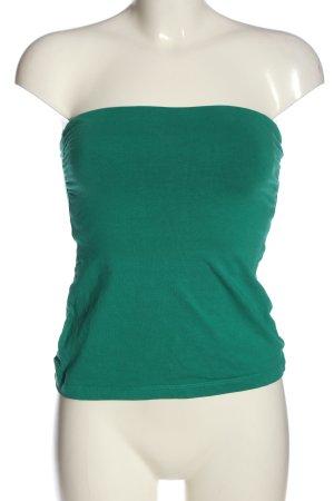 H&M Top spalle scoperte verde stile casual