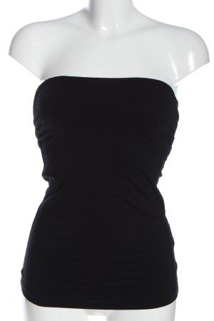 H&M Top bez ramiączek czarny Elegancki