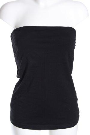 H&M schulterfreies Top schwarz Casual-Look