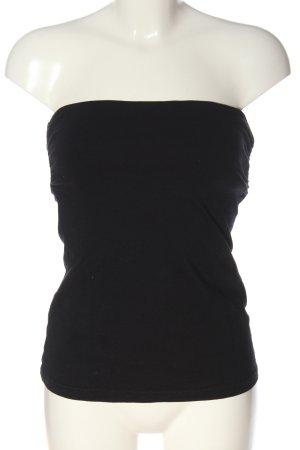H&M Hauts épaule nues noir style décontracté