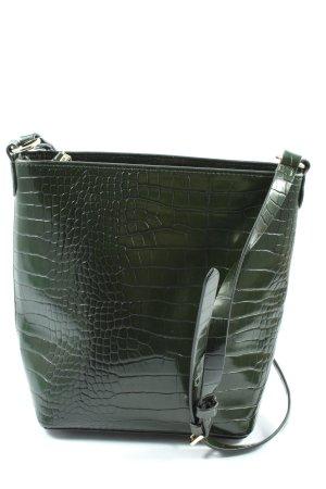 H&M Schultertasche grün Animalmuster Casual-Look