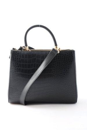 H&M Schultertasche schwarz Business-Look