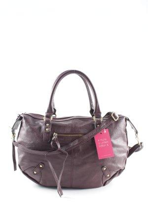 H&M Schultertasche braunrot Casual-Look