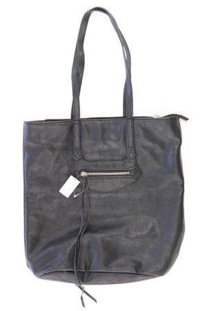 H&M Schultertasche schwarz aus Polyurethan