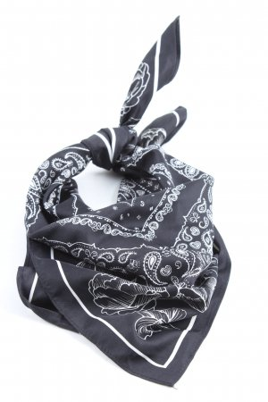 H&M Shoulder Scarf black-white allover print casual look