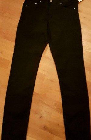 h&m, ,schwarz,Jeans, skinny,regular waist, 33/32,mit Etikett