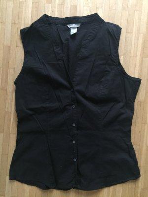 H&M schwarze Bluse M klassische Impressionen