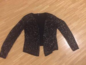 H&M schwarze Pailletten Strickjacke L NEU festliche Impressionen