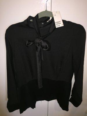H&M schwarze Tunika mit Schleife 42 NEU mit Etikett klassische Impressionen
