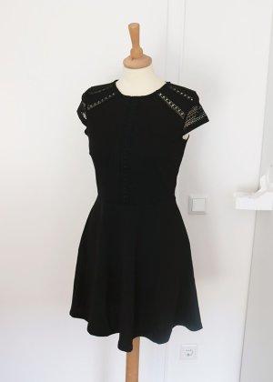 H&M schwarzes Skaterkleid mit Spitze S Neu