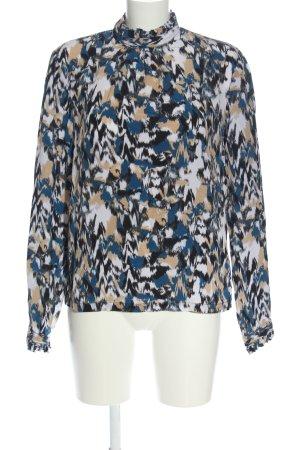 H&M Jedwabna bluzka Abstrakcyjny wzór W stylu biznesowym
