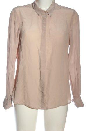 H&M Blouse en soie rose chair style d'affaires