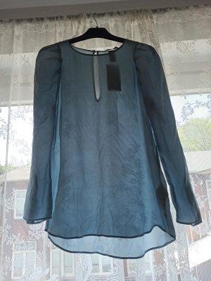 H&M Blusa in seta azzurro