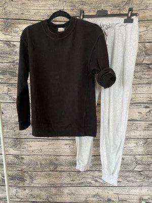H&M Basic Completo sportivo nero-grigio