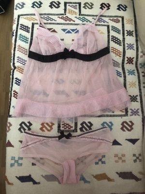 H&M Sexy Pink Schlaftop und Slip M 36 NEU