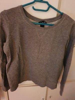 H&M Camisa de cuello barco gris