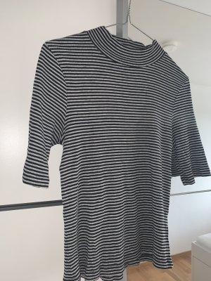 H&M Camisa de cuello de tortuga blanco-negro