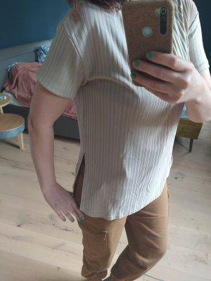 H&M Chemise côtelée beige clair