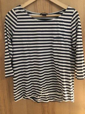 H&M Boothalsshirt wit-donkerblauw