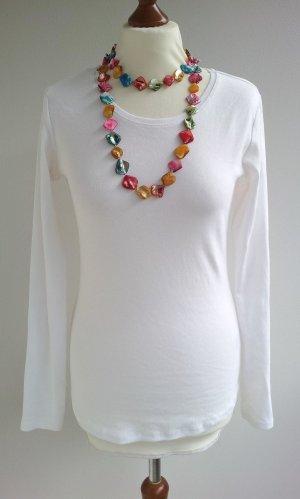 H&M Shirt in M (38), Weiß, Bio-Baumwolle/Organic Cotton, NEU