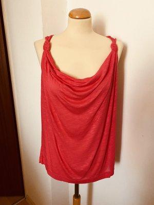 H&M Koszulka z dekoltem woda łosowiowy-jasnoczerwony