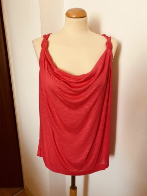 H&M Cowl-Neck Shirt salmon-bright red