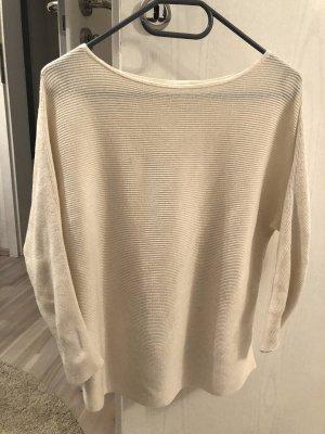 H&M Boatneck Shirt natural white-white polyester