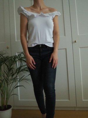 H&M L.O.G.G. Camisa de un solo hombro blanco