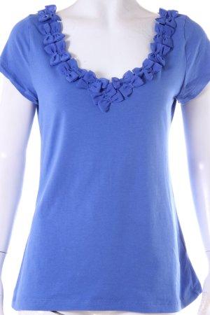 H&M Shirt Schleifenkragen Blau