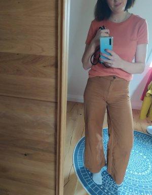 H&M Shirt T-Shirt gerippt Rippshirt Terracotta