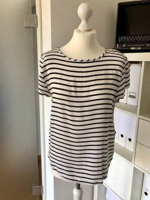 H&M Shirt weiß schwarz gesztreift 36