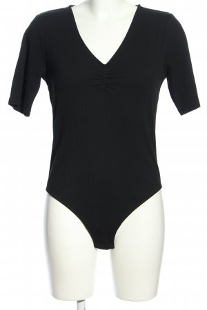 H&M Shirtbody schwarz Casual-Look