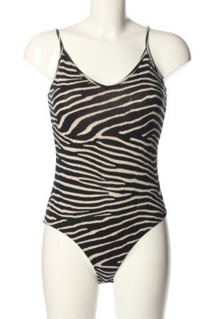 H&M Body czarny-w kolorze białej wełny Na całej powierzchni W stylu casual