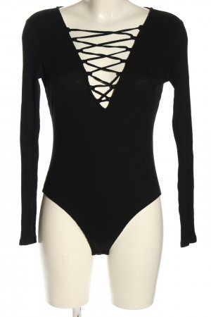 H&M Shirt Body black party style