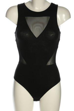 H&M Shirtbody zwart casual uitstraling