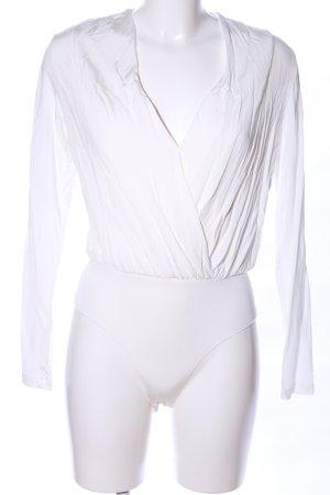 H&M Shirtbody weiß Casual-Look