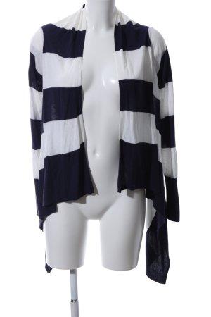 H&M Shirtjacke schwarz-weiß Streifenmuster Casual-Look