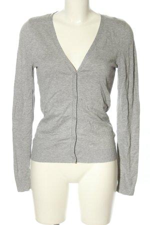 H&M Veste chemise gris clair moucheté style décontracté